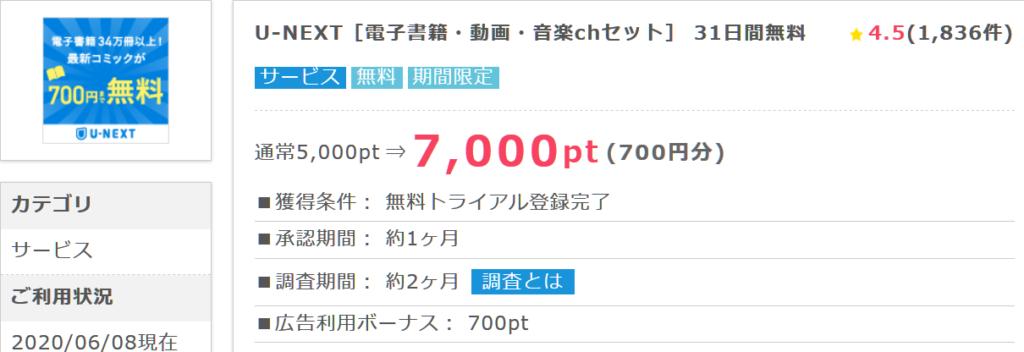 U-NEXT[電子書籍・動画・音楽chセット] 31日間無料