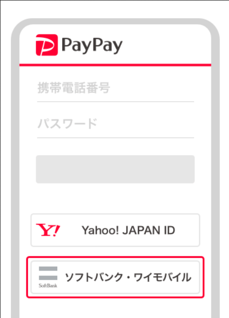 ソフトバンク・ワイモバイルユーザーは回線認証でPaPayに新規登録